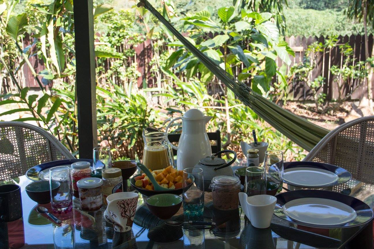 Breakfast Time on the Common Exterior Terrace