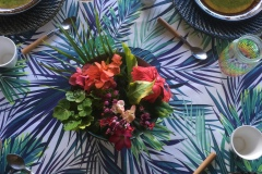 Flowered tables